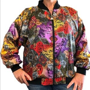 1980s Colorful Bomber Jacket